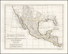 Texas, Southwest and Mexico Map By A.B. Borghi