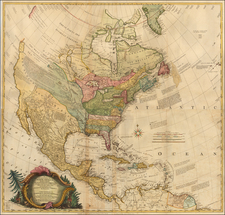 United States and North America Map By John Rocque / Mary Ann Rocque