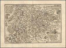 Austria Map By Matthias Quad / Johann Bussemachaer