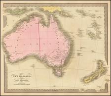 Australia Map By David Hugh Burr