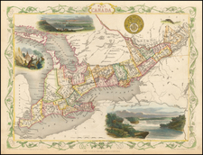 Midwest and Eastern Canada Map By John Tallis