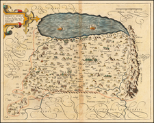 Holy Land Map By Christian van Adrichom