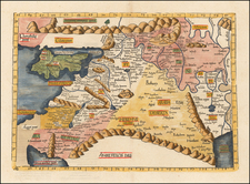 Cyprus, Middle East and Holy Land Map By Lorenz Fries