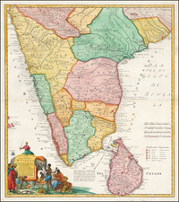 India Map By Homann Heirs