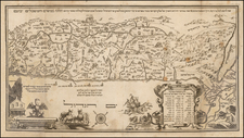 Holy Land and Rare Books Map By Abraham Bar Yaaqov