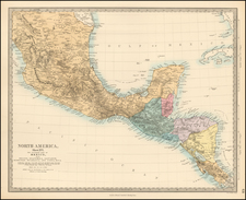 Mexico and Central America Map By SDUK