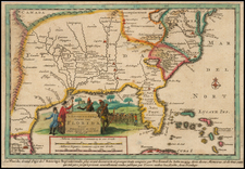 Florida, South and Southeast Map By Pieter van der Aa