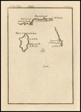 Australia and Curiosities Map By Jonathan Swift