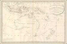 Indonesia, Australia & Oceania, Australia, Oceania, New Zealand and Other Pacific Islands Map By Depot de la Marine / Antoine Brun D'Entrecasteaux
