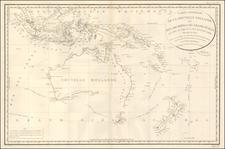 Indonesia, Australia & Oceania, Australia, Oceania, New Zealand and Other Pacific Islands Map By Depot de la Marine / Antoine Brun D'Entrecasteaux