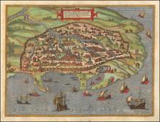 Egypt Map By Georg Braun  &  Frans Hogenberg