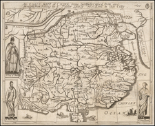 An Exact Mapp of China, being faithfully Copied from one brought from Peking by a Father Lately resident in that Citty.  1655 By Alvarez de Smedo / John Webb