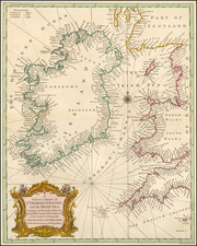 Ireland Map By Paul de Rapin de Thoyras / Nicholas Tindal