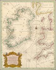Ireland Map By Paul de Rapin de Thoyras / Nicholas Tindal