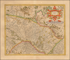 France and Germany Map By Henricus Hondius