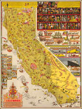 Pictorial Maps and California Map By Jo Mora