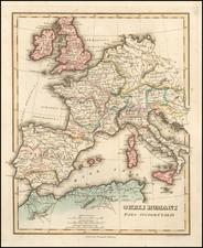 Europe and Mediterranean Map By Fielding Lucas Jr.