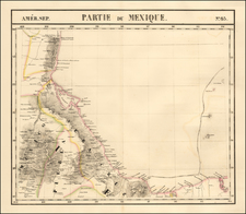 [Gulf Coast, Mexico, Puebla, Vera Cruz, etc]  Amer. Sep. No. 65.  Partie Du Mexique  By Philippe Marie Vandermaelen