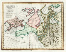 Alaska, Asia, China and Canada Map By Denis Diderot / Didier Robert de Vaugondy