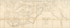 Oregon Map By U.S. Army Corps of Topographical Engineer