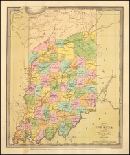 Indiana Map By David Hugh Burr