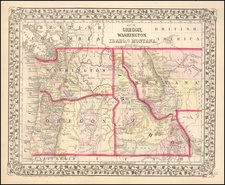 Plains and Rocky Mountains Map By Samuel Augustus Mitchell Jr.