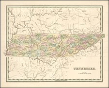 Tennessee Map By Thomas Gamaliel Bradford
