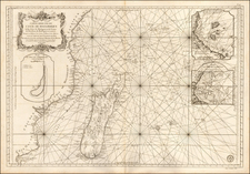 East Africa and African Islands, including Madagascar Map By Jacques Nicolas Bellin