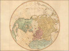 Northern Hemisphere and Polar Maps Map By William Faden