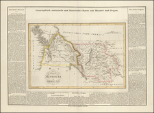 Plains, Colorado, Rocky Mountains, Colorado, Idaho, Montana, Wyoming, Pacific Northwest, Oregon and Washington Map By Carl Ferdinand Weiland