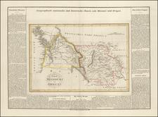 Plains, Colorado, Rocky Mountains, Colorado, Idaho, Montana, Wyoming, Pacific Northwest, Oregon and Washington Map By Carl Ferdinand Weiland
