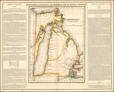 Michigan Map By Henry Charles Carey  &  Isaac Lea