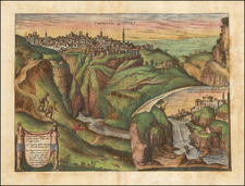 Italy and Other Italian Cities Map By Georg Braun  &  Frans Hogenberg