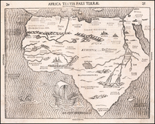 Africa Map By Heinrich Bunting