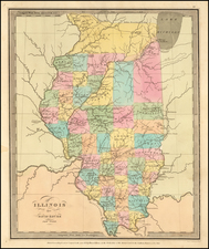Illinois Map By David Hugh Burr