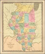 Illinois Map By David Hugh Burr