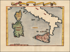 Corsica, Sardinia and Sicily Map By Lorenz Fries