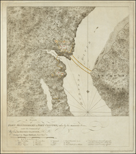 New York State and American Revolution Map By Joseph Frederick Wallet Des Barres