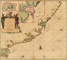 Guianas & Suriname Map By Johannes Van Keulen
