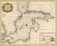 A Correct Chart of the Baltick or East Sea from ye Sound to Petersburg From the latest and best Observations . . . By Paul de Rapin de Thoyras / Nicholas Tindal