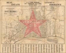 Michigan Map By R.L. Polk