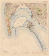 San Diego Map By U.S. Geological Survey