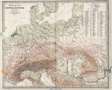 Europe and Europe Map By Adolf Stieler