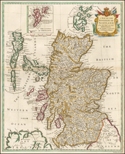 Scotland Map By Paul de Rapin de Thoyras / Nicholas Tindal
