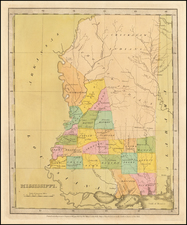 Mississippi Map By David Hugh Burr