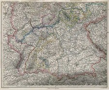 Europe and Germany Map By Adolf Stieler