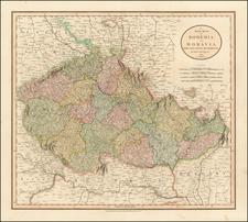 Czech Republic & Slovakia Map By John Cary