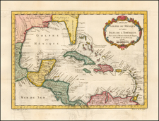 Southeast and Caribbean Map By Jacques Nicolas Bellin