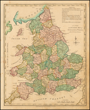 England Map By Robert Wilkinson