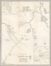 Copy Of A Map of the Seat of War in Florida Forwarded to the War Department by Major Gen'l W. Scott…Prepared by Lieut J E Johnson 4th US Arty:  March 20th 1836 By United States GPO